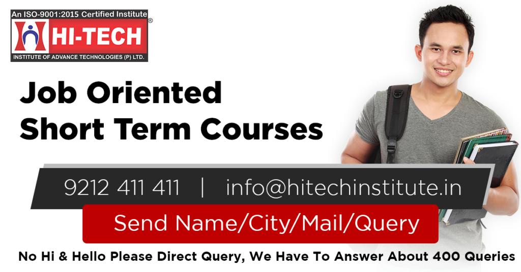 Job Oriented Short Term Courses